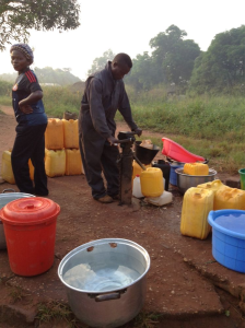 A Moyno pump at Nandobo Ecole village in Central African Republic in 2014 (Courtesy of Water for Good)