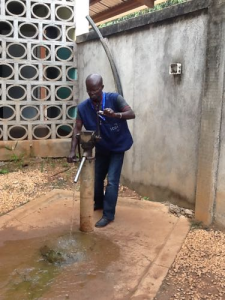 A Moyno pump at Maigaro Disp 2 village in Central African Republic in summer 2015 (Courtesy of Water for Good)